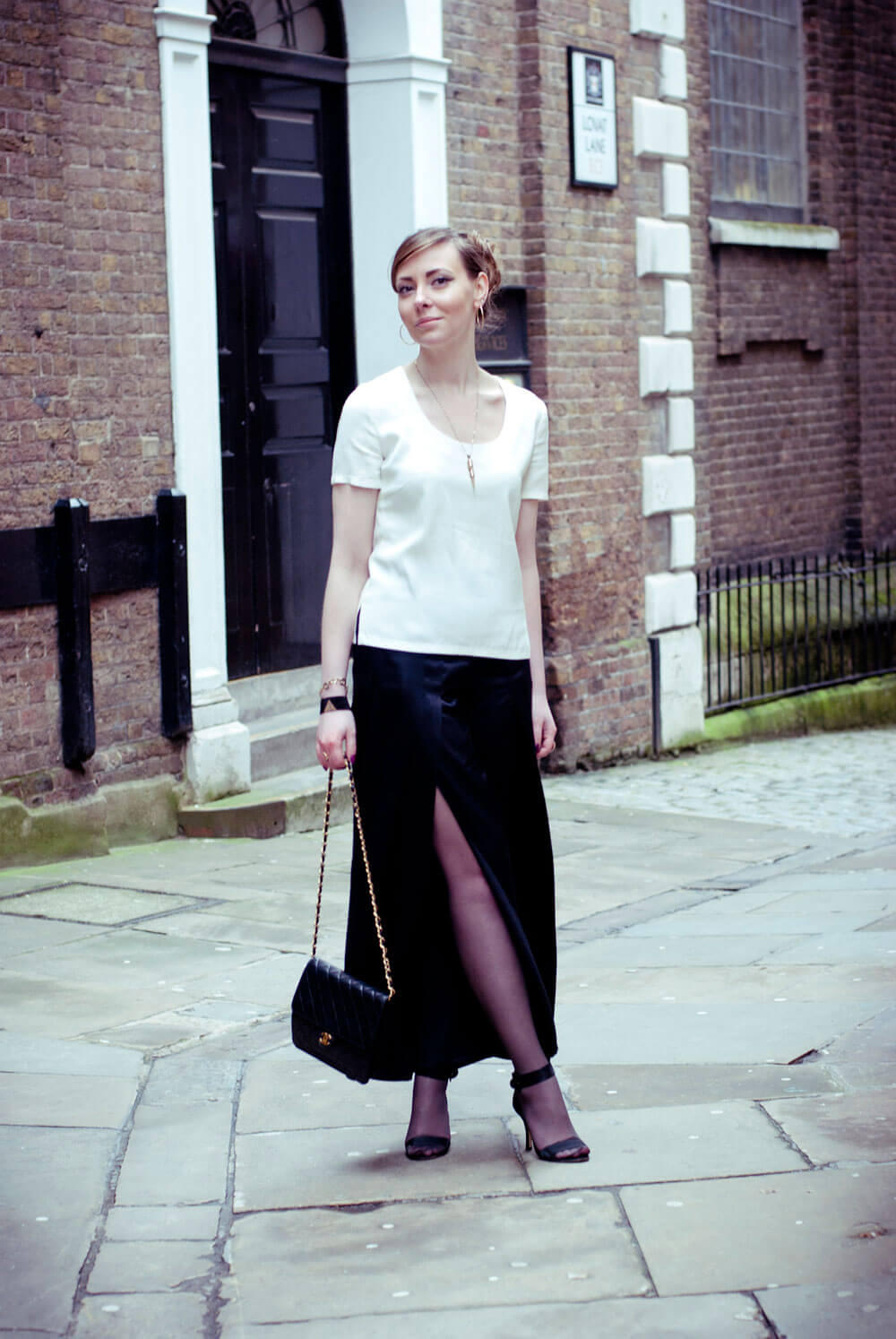 Edita in Stella McCartney trousers, Sonia Rykiel top, Chanel bag and Walter Steiger shoes, JR cuff 6