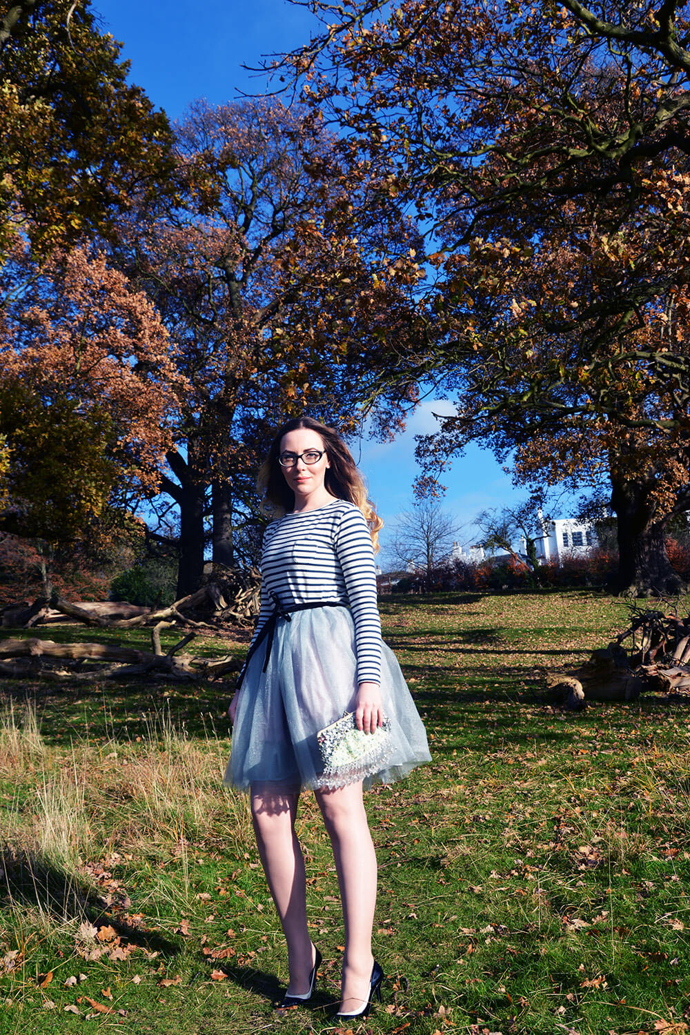 Edita in Lacoste top, BCBG shoes, MIMI C clutch, Chanel glasses and Vintage skirt. 1