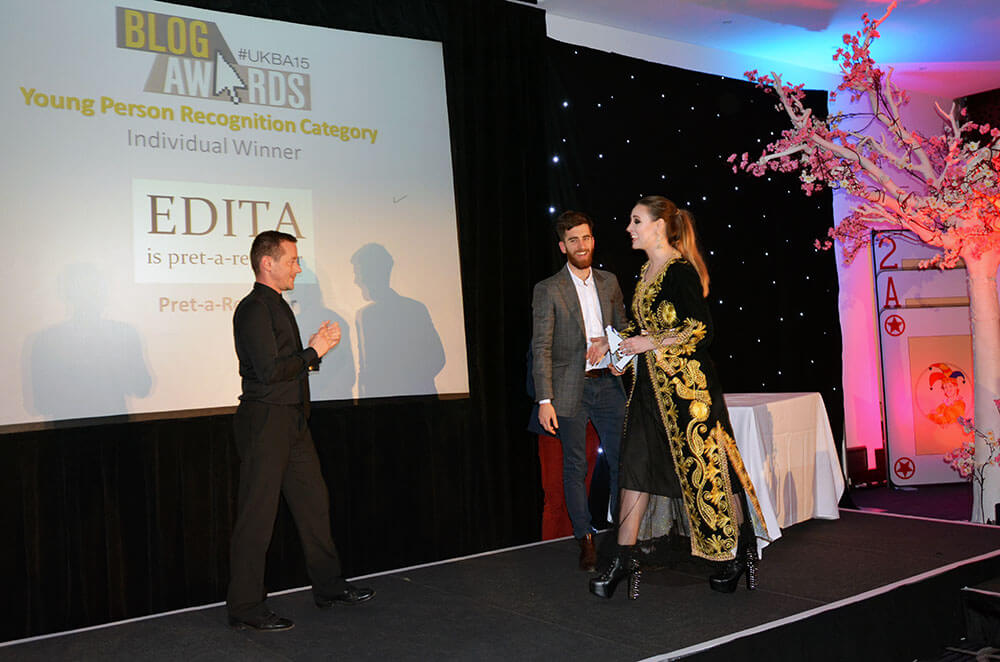 Edita at the UK Blog Awards 2015 8