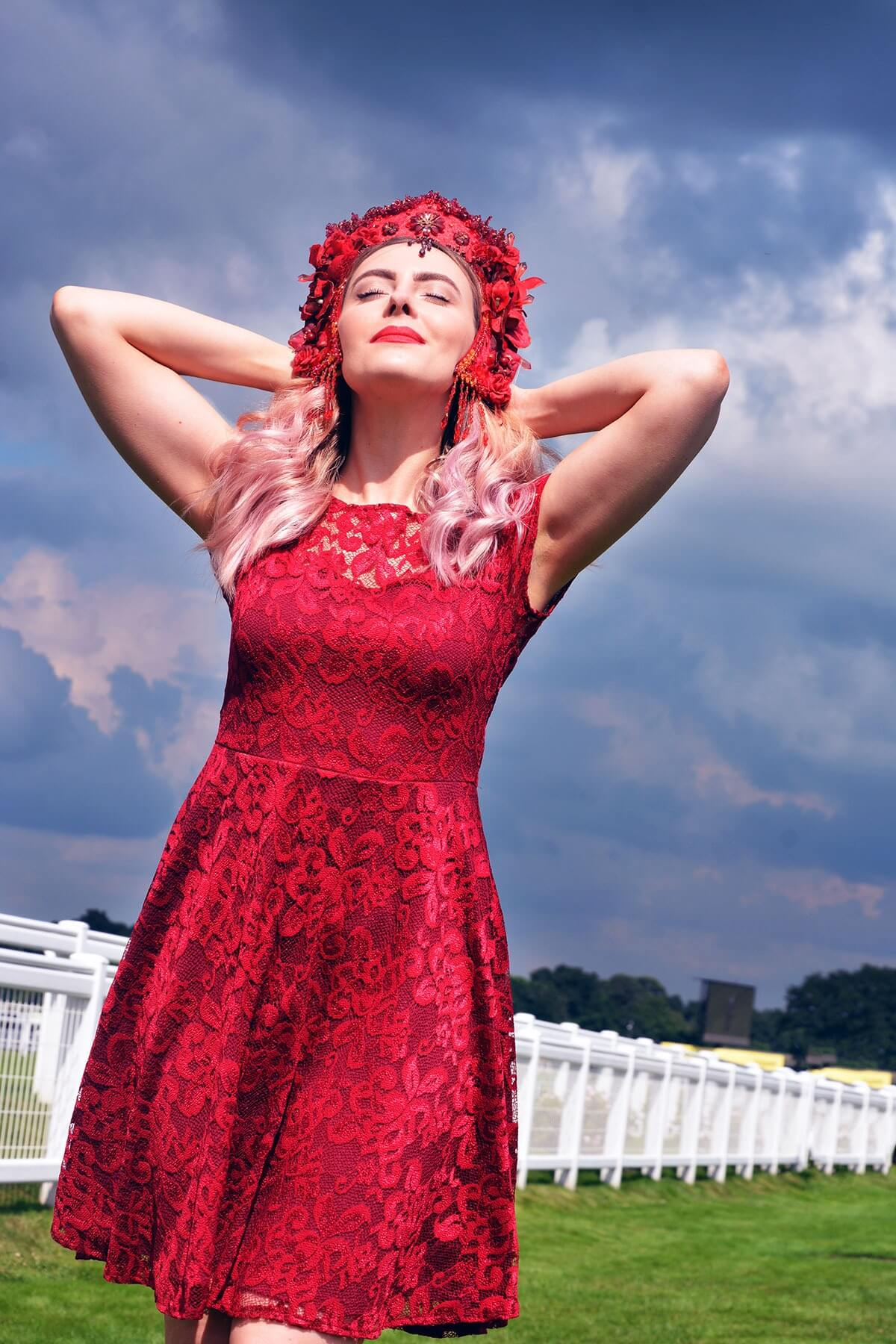 Edita at Royal Ascot in Hot Squash and Creations by Liv Free 11