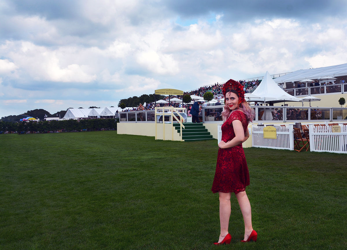 Edita at Royal Ascot in Hot Squash and Creations by Liv Free 3