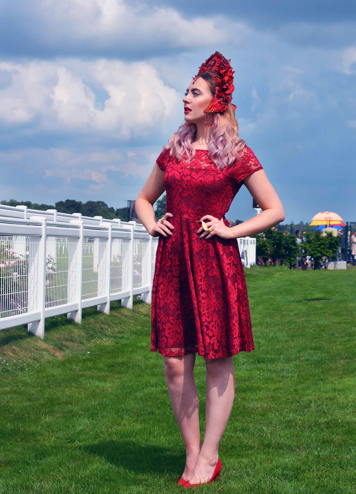 Edita at Royal Ascot in Hot Squash and Creations by Liv Free 4