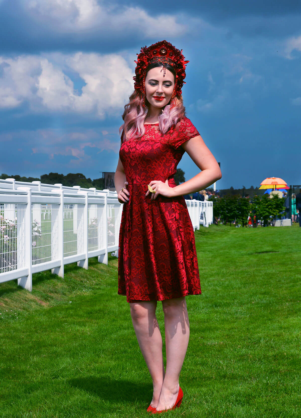 Edita at Royal Ascot in Hot Squash and Creations by Liv Free 6