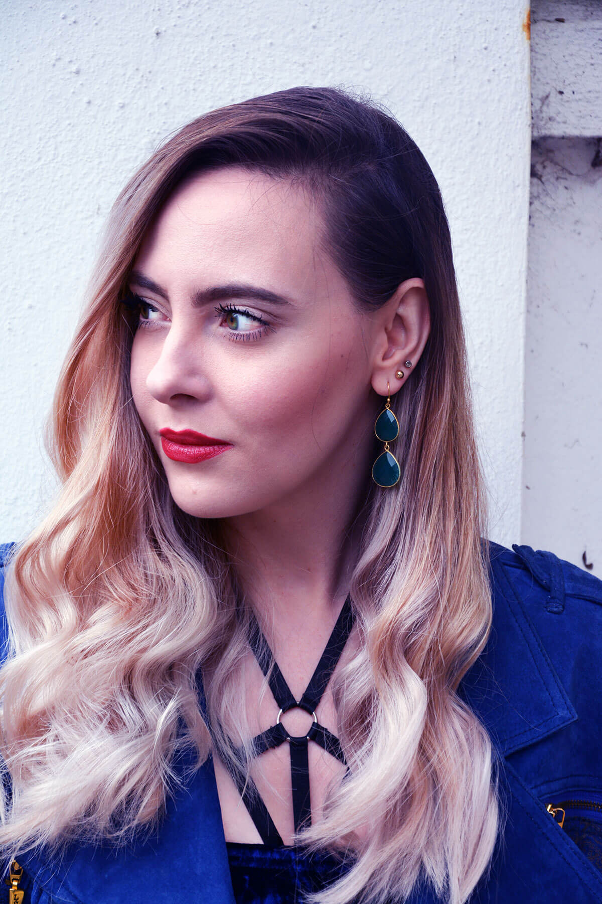 Edita in Blue Velvet Boohoo, Vintage and Marks and Spencer 16