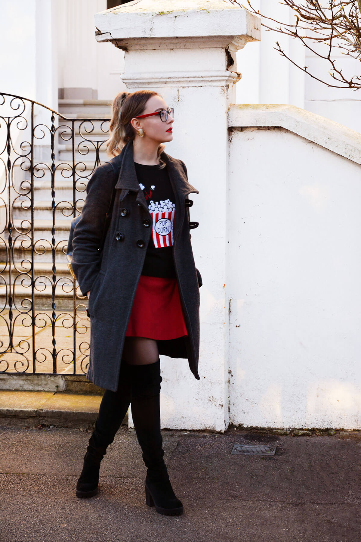 Edita in George, Zara, Karen Millen, Glasses Shop, HM 3