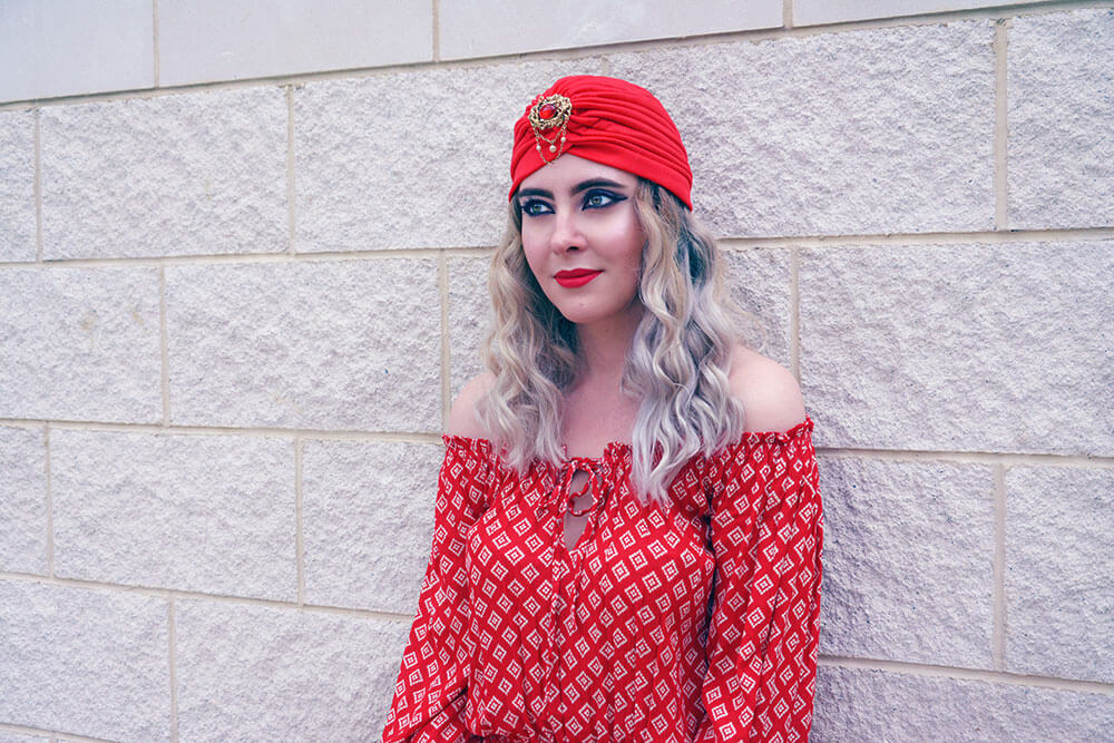 Boho red outfit