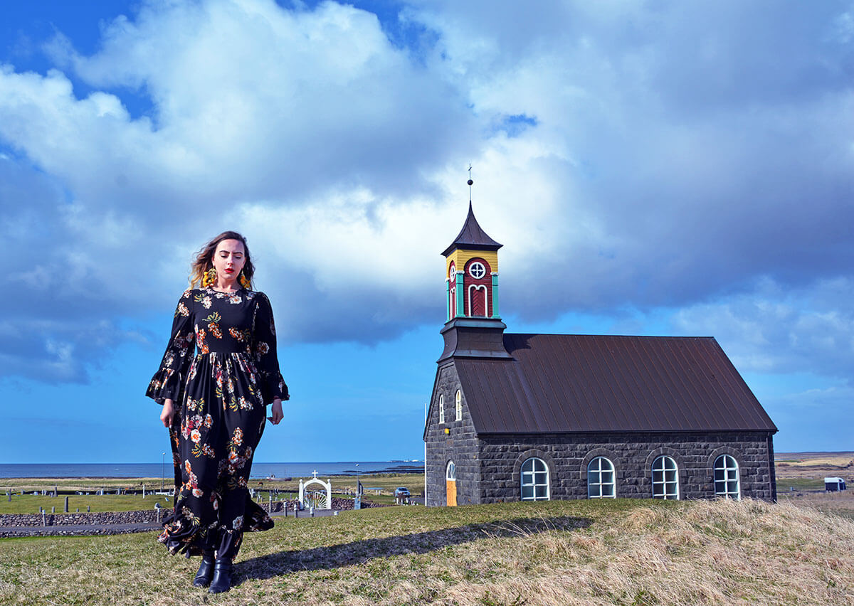 Travel Blogger Iceland Black Church